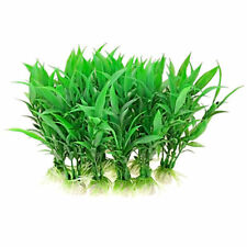 10pcs Artificial Aquatic Plant Plastic Grass Fish Tank Aquarium Decor-Green