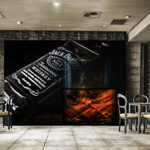 1423J Photo Wall Mural-VINTAGE WOODEN BAR- -NON WOVEN-Wallpaper-Rustic Pub Scene