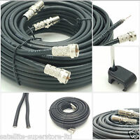 30m SKY+ or HD twin shotgun Satellite cable black NEW ! TV Satellite coax cable
