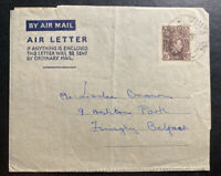 1952 Sapele Nigeria Air Letter Cover To Belfast Northern Ireland