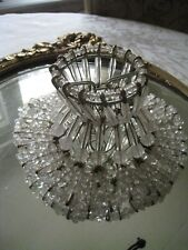 VINTAGE~SAFETY PINS CLEAR BEADED LAMP SHADE #8