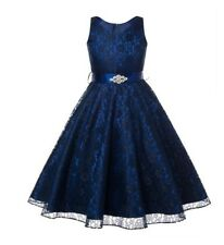 Flower Girl Birthday Wedding Bridesmaid Toddler Kids Pageant Formal Gown Dresses