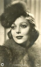 LORETTA YOUNG 30s VINTAGE POSTCARD #4