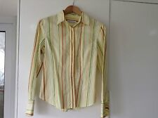 Mobaco Cottons Shirt 100% Pure Egyptian Cotton Blouse Top Size 10 <985C