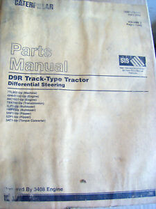 Caterpillar D9R Track-Type Tractor Differential Steering  PARTS MANUAL VOL1