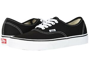 Vans Authentic Skate Shoes Adult Unisex Black/White VN000EE3BLK All Sizes