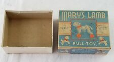 Vintage Hubley Marys Lamb Pull Toy BOX ONLY very rare cardboard nice box