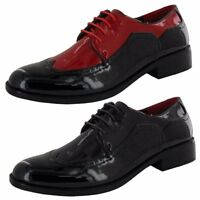 Mens Glossy Patent Formal Italian Brogues Wedding Dress Shoes Size