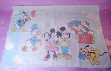 Vintage Disney Frontierland Disneyland Mickey Mouse Pillowcase Bedding 1970s