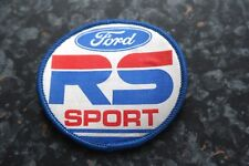 Old Ford RS Rallye Sport Motorsport Fabric Sew On Badge