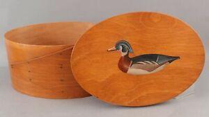 Large Original Cape Cod Stan Sparre Joe Lincoln Duck Decoy Painting Pantry Box
