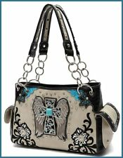 NWT COWGIRL TRENDY  WESTERN TOTE CONCEAL TO CARRY HANDBAG