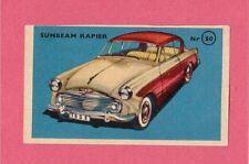 Sunbeam Rapier Vintage 1950s Car Collector Card from Sweden