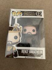 Renly Baratheon #12 Game of Thrones Funko Pop Vinyl VGC VAULTED + Pop Protector