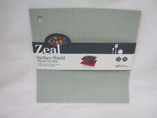Zeal Heat Resistant Silicone Kitchen Hot Mat Square Trivet J310 22cm Light Grey