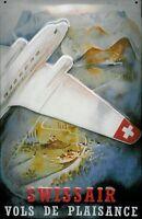 Swissair Swiss Air Blechschild Schild Blech Metall Metal Tin Sign 20 x 30 cm