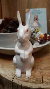 no longer made- WHITE RABBIT BOBBLE HEAD  Made in West Germany
