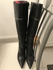 Marciano Guess Black Leather Knee High Length Boots 7.5