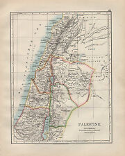 1902 Carta vittoriana ~ Palestina ~ Galilea il balsamo di Giudea Samaria decapolis