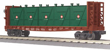 MTH Railking Trains Pennsylvania Flat Car w' Bulkheads & LCL Containers 30-76603