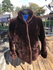 Vintage Mouton-Fur Jacket Coat Plush Sheared Sheepskin Size 8