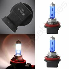 A SET H11 6000K SUPER WHITE XENON GAS HALOGEN HEAD LIGHT BULBS FOR LOW BEAM