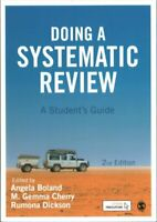 Doing a Systematic Review A Student's Guide by Angela Boland 9781473967014