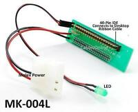 """44 Pin to 40 Pin 2.5"""" Laptop IDE Hard Drive Adapter with Molex Power and LED"""