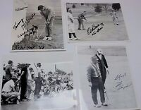 Lot 4 1960's Press Photo PGA Golf Professionals 8x10 B&W Picture Man Cave Decor