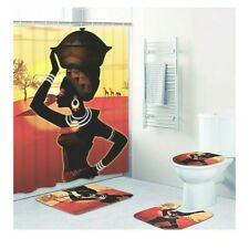 African Woman 4 Piece Bathroom Set