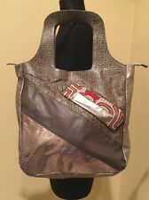 ZUR ART LARGE LEATHER HOBO BAG PURSE TOTE in GRAY PEWTER COLOR