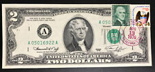 1976 $2 Two Dollar Bill First Day Issue Postmarked Stamps Narragansett RI
