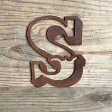 "S CARNIVAL FONT 5"" RUSTY METAL LETTER HOUSE SHOP HOME VINTAGE RUSTIC WORD SIGN"