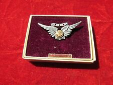 US Navy USN Air Crew wing full size 3 stars Amico in Amico box Pin Back