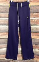Womens Nike Xs Dri Fit Purple & Green Zip Ankle Track Running Athletic Pants