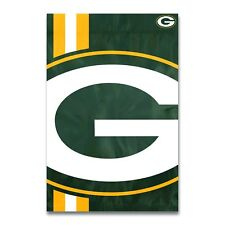 "Green Bay Packers 2x3 Flag Banner Bold Logo Sleeved 2' x 3"" Banner USA SHIP"