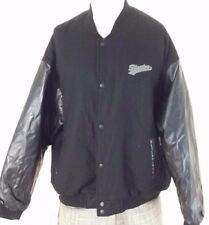 STARTER Varsity Style Mens Jacket Size XL Black Wool Faux Leather New with Tags