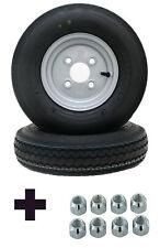 2 x Komplettrad 4.80-8 / 4.00-8 62M 8-Zoll m Muttern Anhänger Rad Reifen Felge