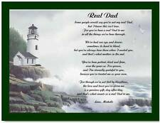 Father Dad Stepfather Personalized Lighthouse Poem Gift For Birthday, Christmas