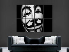 GUY FAWKES MASK ANONYMOUS ART WALL LARGE IMAGE GIANT POSTER
