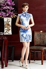 NEW Fashion Chinese women's mini dress evening dress Asian Size M