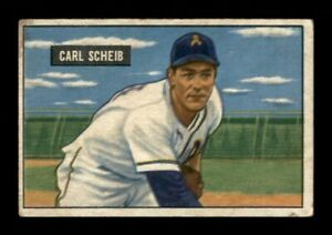 1951 Bowman Set Break # 83 Carl Scheib GD *OBGcards*