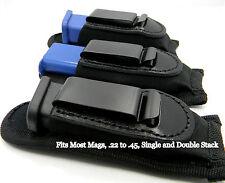 INSIDE PANTS IWB CLIP-ON SINGLE MAGAZINE HOLDER for 22 25 32 380 9mm 40mm 45mm