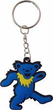 46047 Grateful Dead Blue Jerry Bear 60s Rubber Key Chain Fob Keychain Keyring