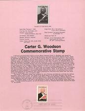#8406 20c Carter G. Woodson Stamp - Scott #2073 USPS Souvenir Page