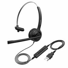 Mpow Single-Sided USB Headset with Microphone Computer Headphone Earphone for PC