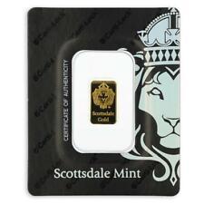 2 gram Scottsdale Mint .9999 Gold Bar - Sealed in Certi-Lock COA #A378