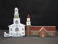 Sheila's Collectibles 5 Piece Lot The Amish School, Burton Parish Church