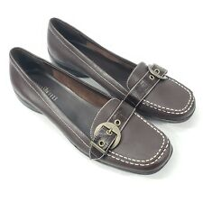 STUDIO WORKS Women's Shoes Size 10M Madison Brown Flat Leather