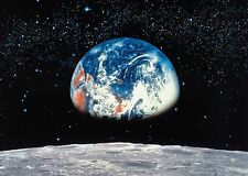Wall Mural photo Wallpaper Earth view from Moon - Black space - Cosmos - Planets
